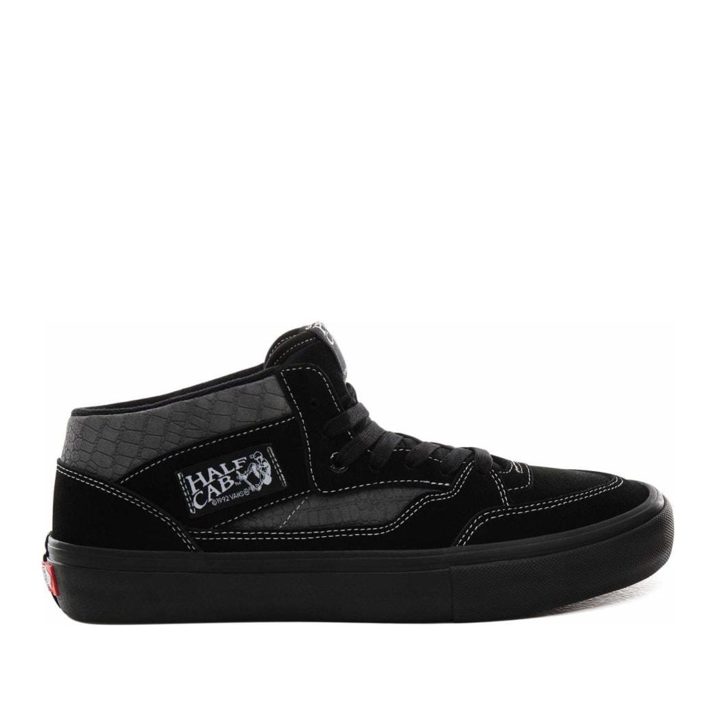 Vans Croc Half Cab Pro Skate Shoes - Black / Pewter | Shoes by Vans 1
