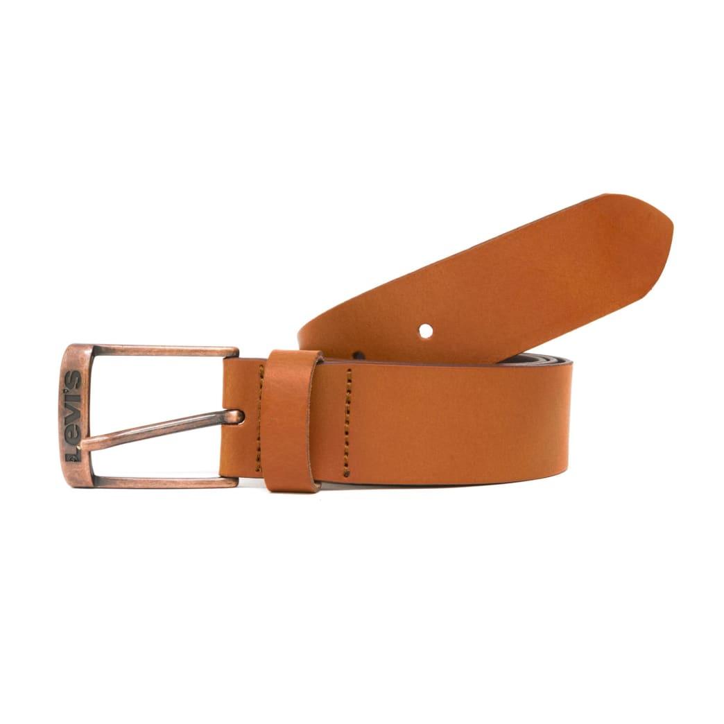 Levis New Duncan Leather Belt - Medium Brown   Belt by Levi's Skateboarding 1