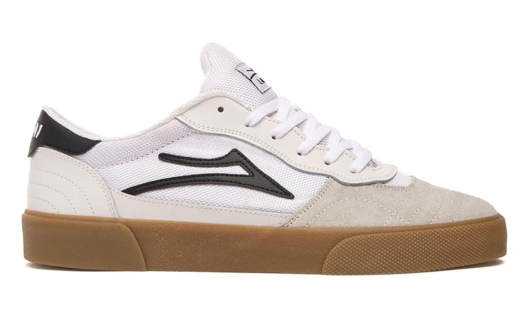 Lakai Cambridge Suede Skate Shoes - White / Black / Gum | Shoes by Lakai 1