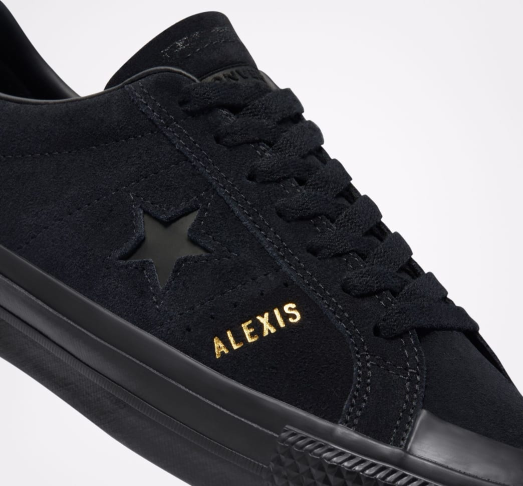 Converse CONS One Star Pro AS Low Top Shoes - Black / Black / Black   Shoes by Converse Cons 3