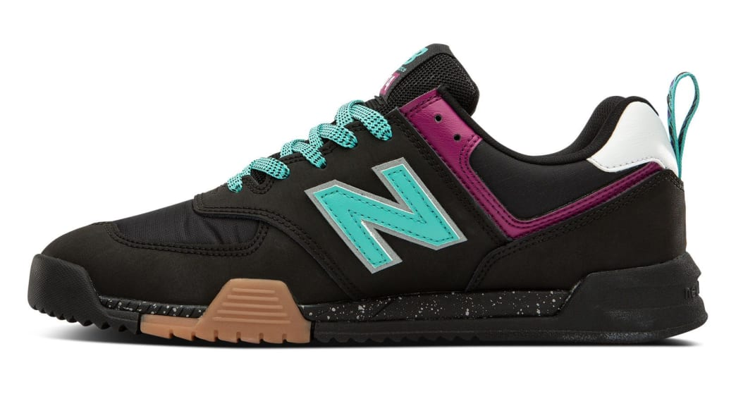 New Balance All Coasts AM574 Shoes - Black / Mint | Shoes by New Balance 2