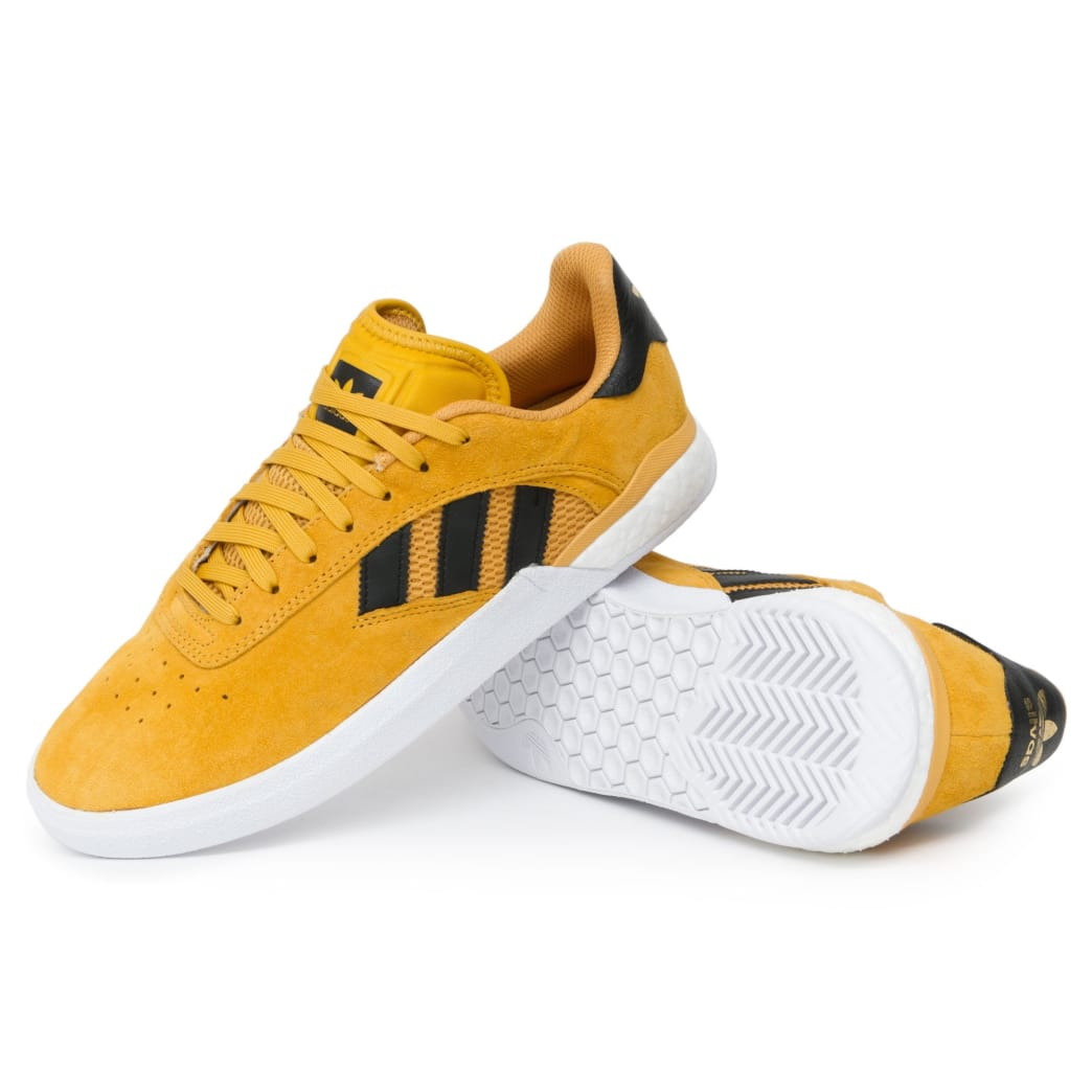 Adidas 3ST.004 x Miles Silvas Shoes - Tactile Yellow/Black/Gold | Shoes by adidas Skateboarding 1