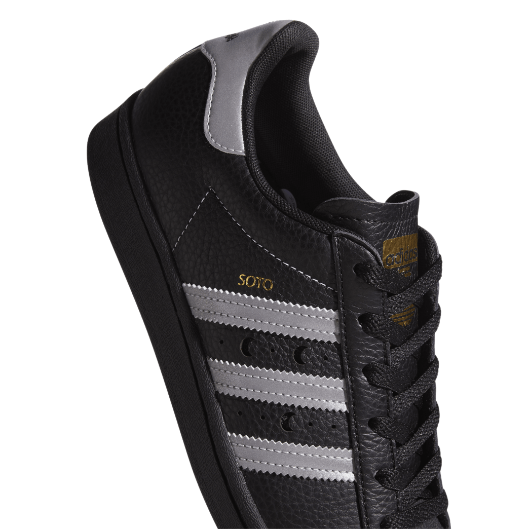 adidas Superstar ADV x Soto Skate Shoe - Core Black / Silver Met / Gold Met | Shoes by adidas Skateboarding 7