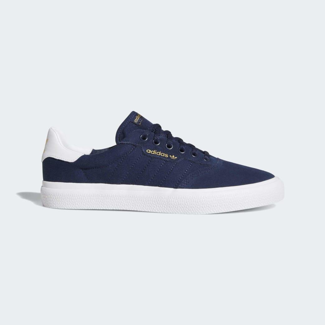 Adidas 3MC Vulc Shoes - Collegiate Navy/Cloud White/Collegiate Navy | Shoes by adidas Skateboarding 1