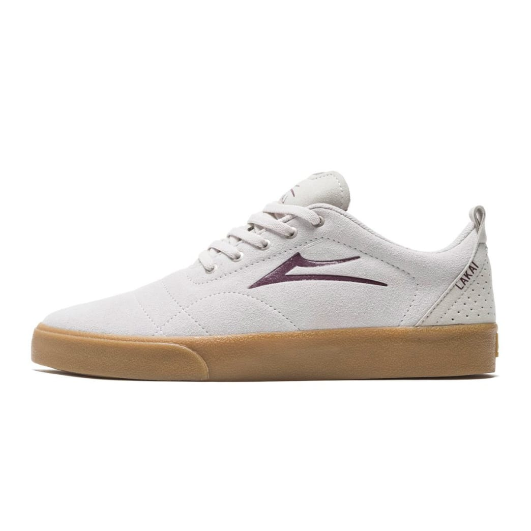 Lakai Bristol Suede Skate Shoes - White / Gum | Shoes by Lakai 2