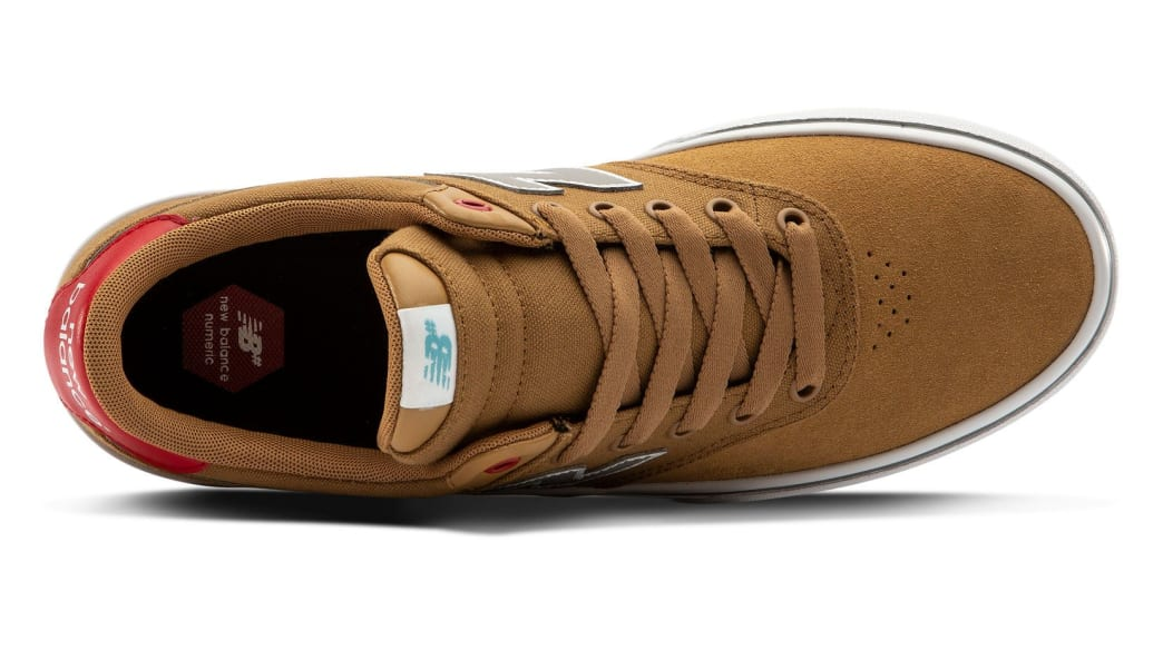 New Balance Numeric 255 Skate Shoe - Brown / Red | Shoes by New Balance 3