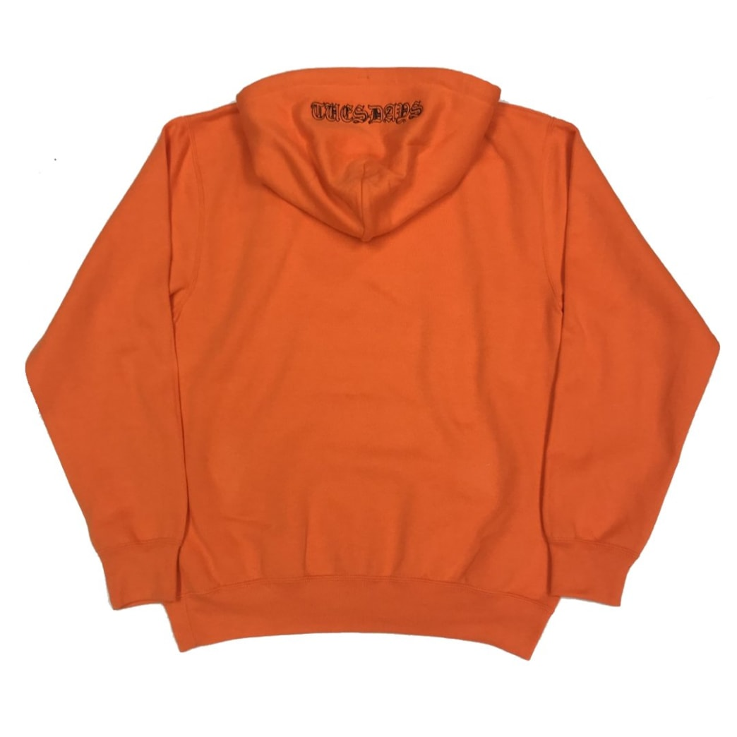 Tuesdays 'Ye Olde' Embroidered Hood Safety Orange/Black | Hoodie by Tuesdays Skate Shop 1
