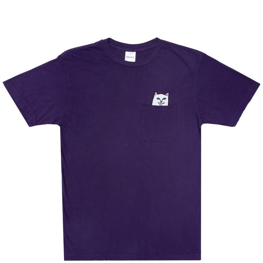 Ripndip Lord Nermal Pocket T-Shirt - Purple | T-Shirt by Ripndip 1