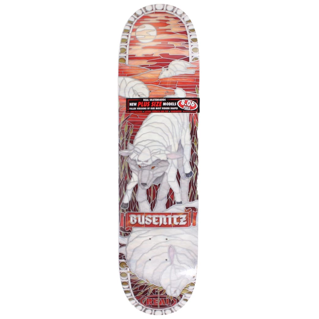 Real Busenitz Bull Deck 8.06 Full Blemish Deck | Deck by Real Skateboards 1
