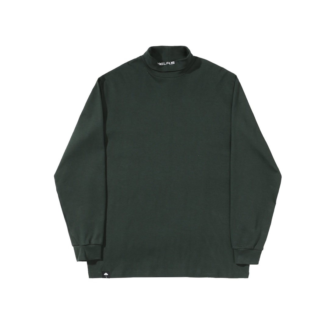 Helas - Turtleneck Longsleeve T-Shirt - Green | Longsleeve by Helas 1