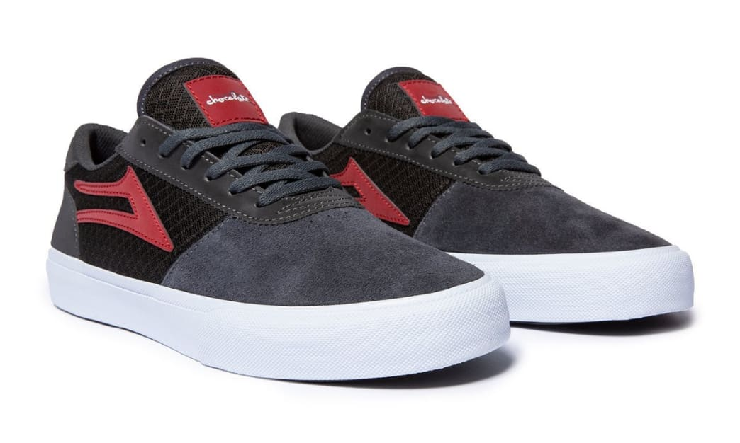 Lakai x Chocolate Manchester Skate Shoes - Grey / Reflective Suede | Shoes by Lakai 2