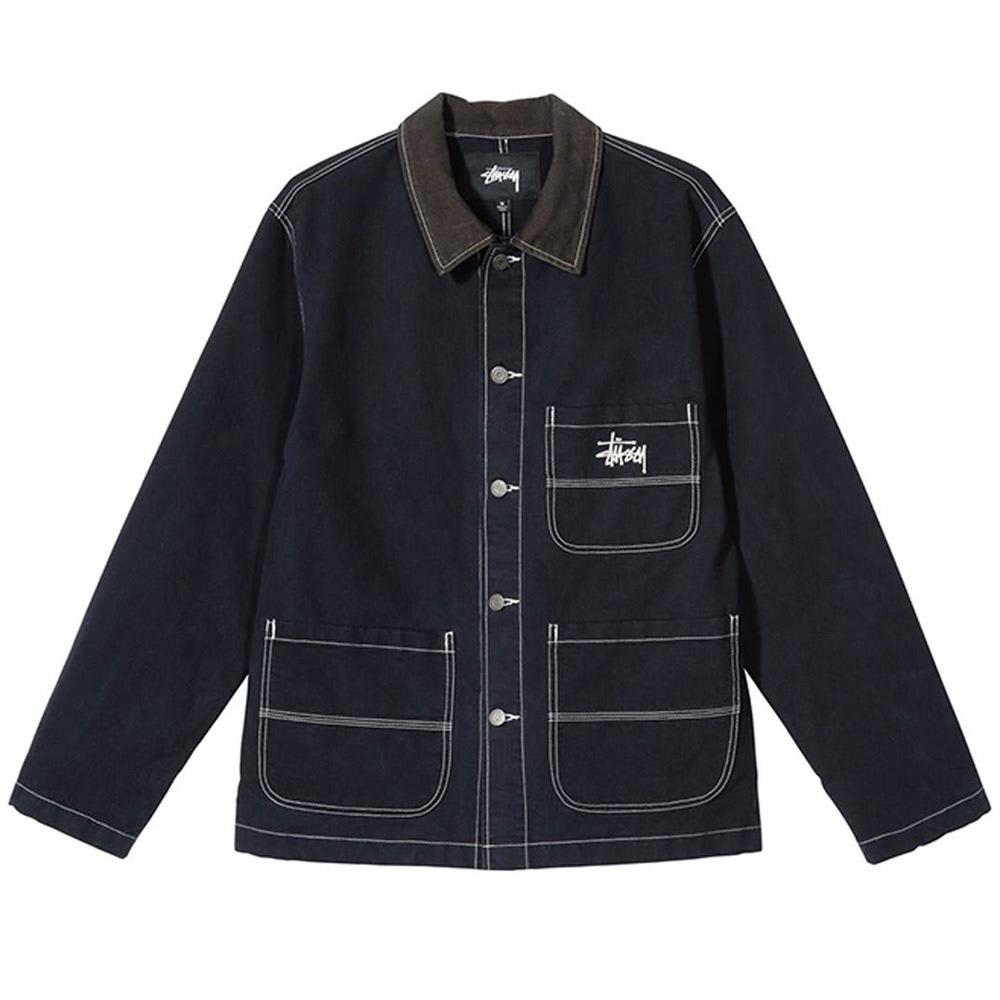 Stussy Brushed Cotton Moleskin Chore Jacket - Navy | Jacket by Stüssy 1