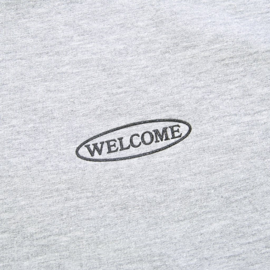 Welcome Skate Store - No Drama Pullover Hooded Sweatshirt - Heather Grey / Dark Grey Reflective   Hoodie by Welcome Skate Store 3