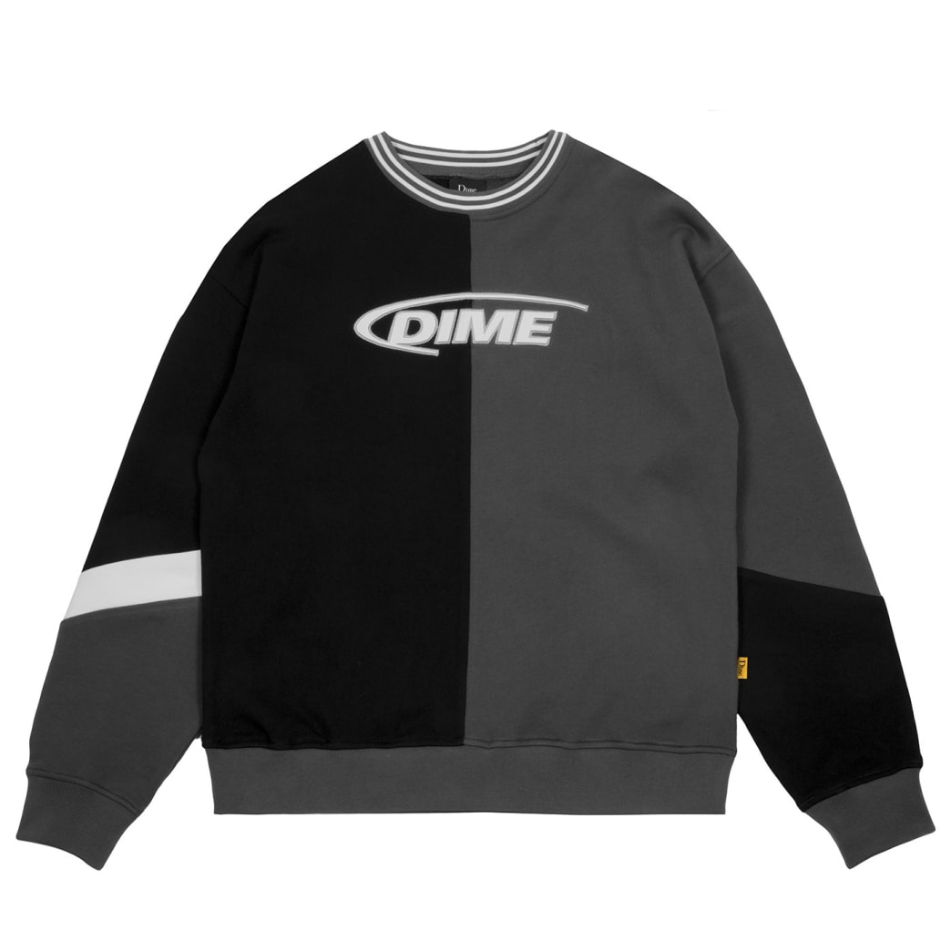 Dime French Terry Split Crew - Black | Sweatshirt by Dime MTL 1