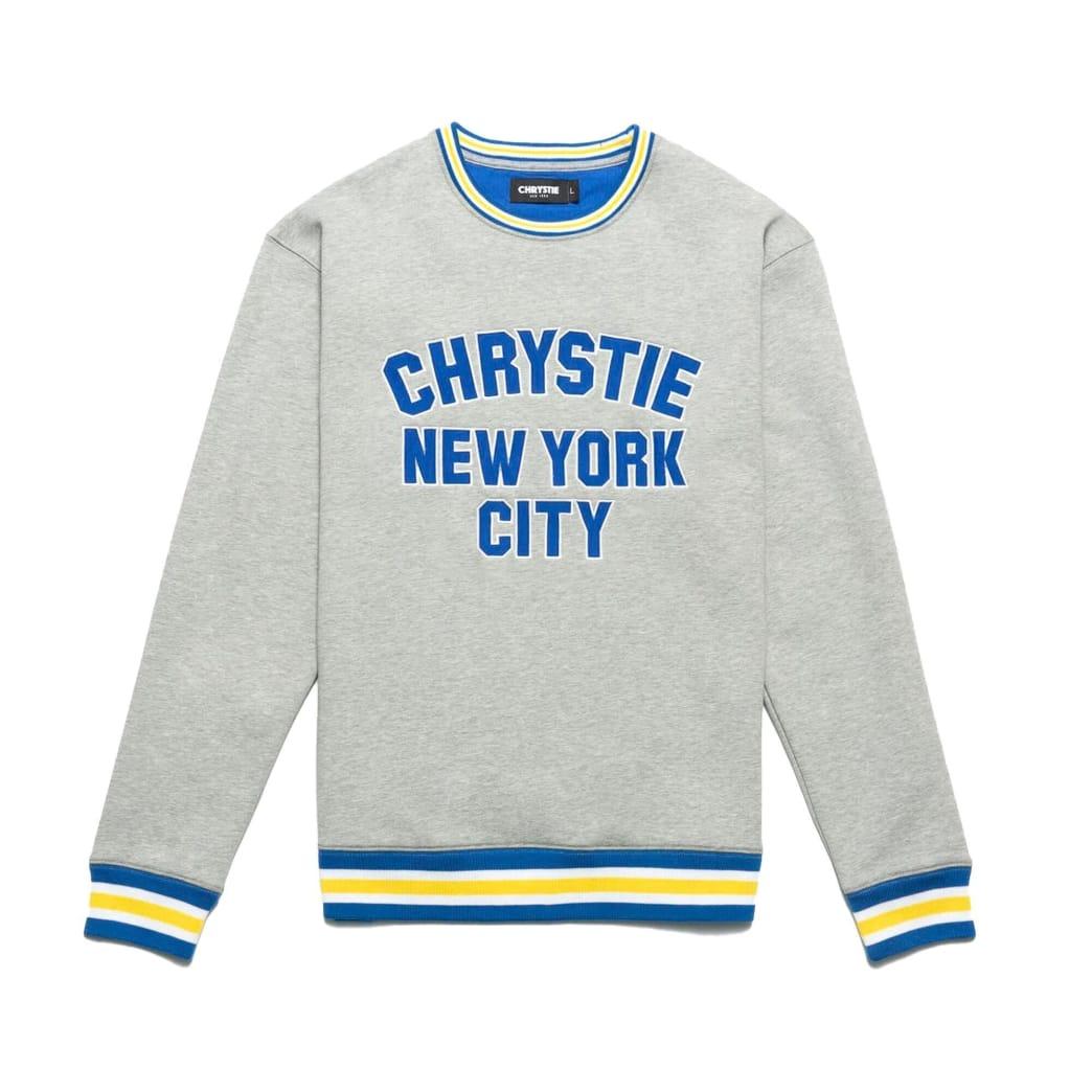 Chrystie NYC Varsity Logo Crewneck Sweater - Ash Grey | Sweatshirt by Chrystie NYC 1