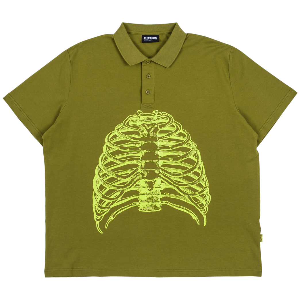 Pleasures - Ribs Polo Shirt | Polo Shirt by Pleasures 1