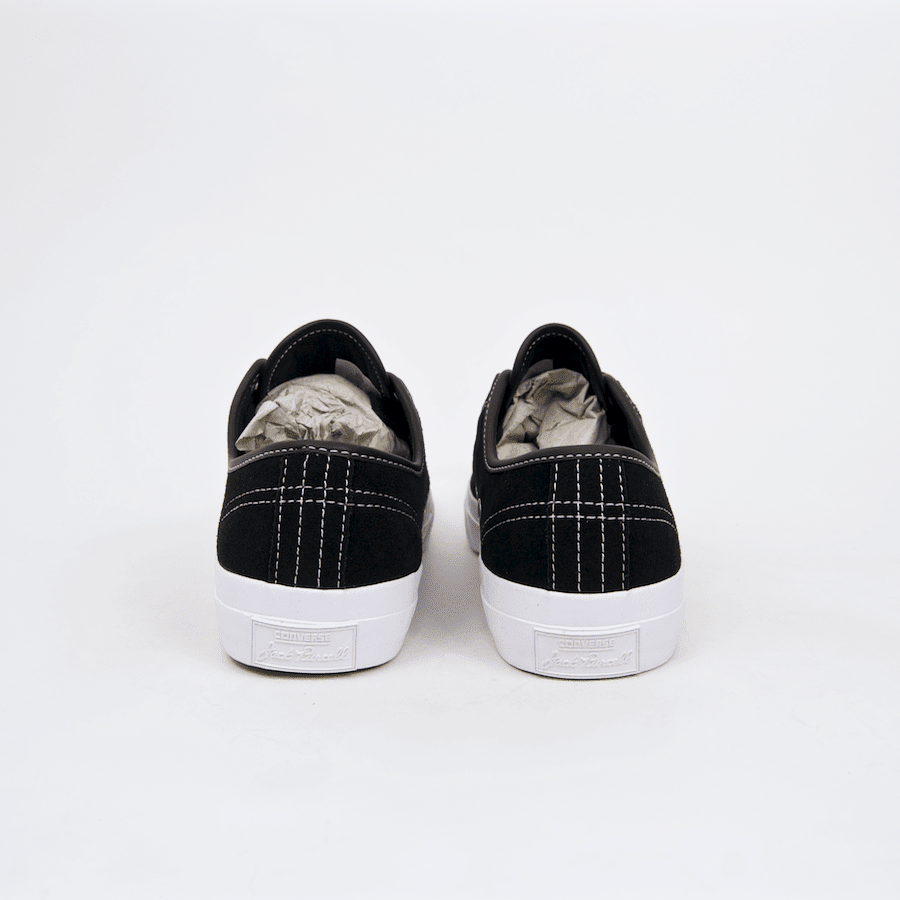 Converse Cons - Jack Purcell Pro OX (Suede) Shoes - Black / Black / White | Shoes by Converse Cons 6