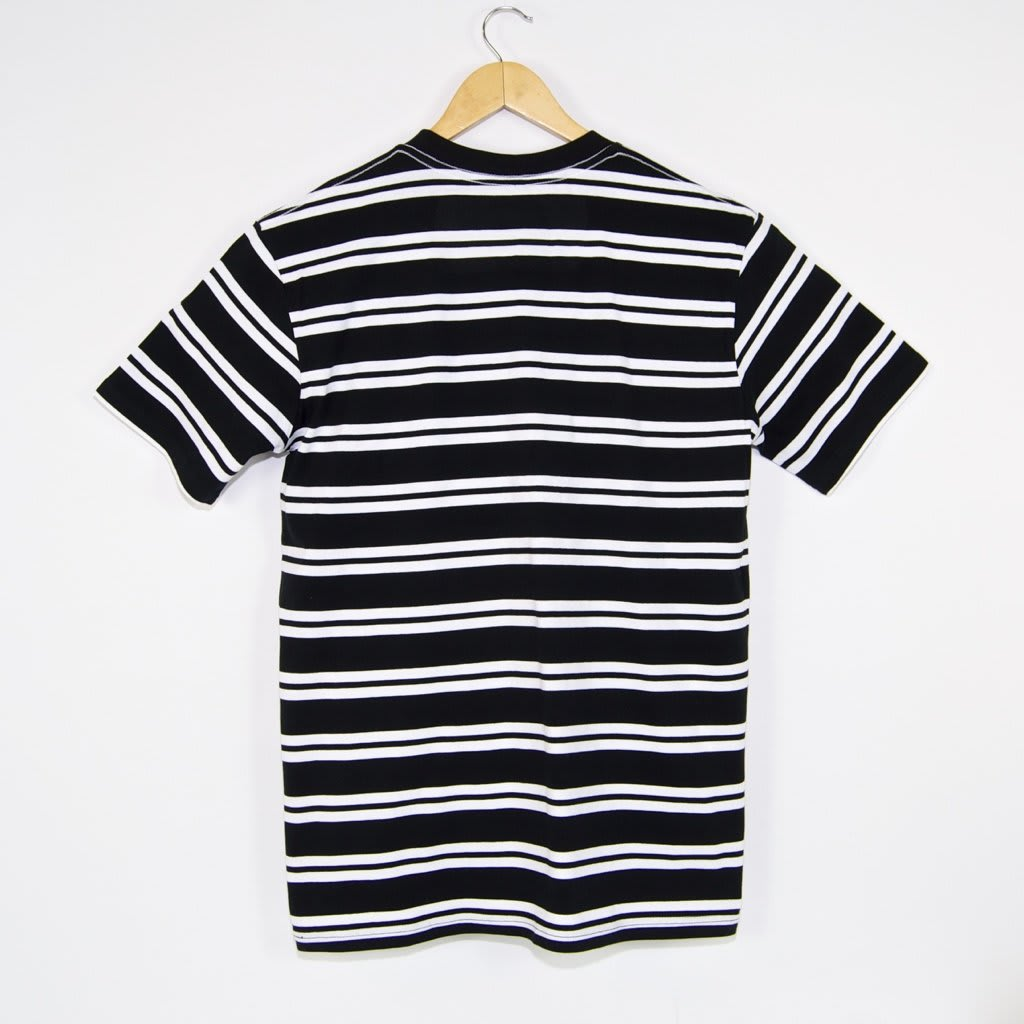 Welcome Skate Store - Burger Embroidered Striped T-Shirt - Black / White | T-Shirt by Welcome Skate Store 3