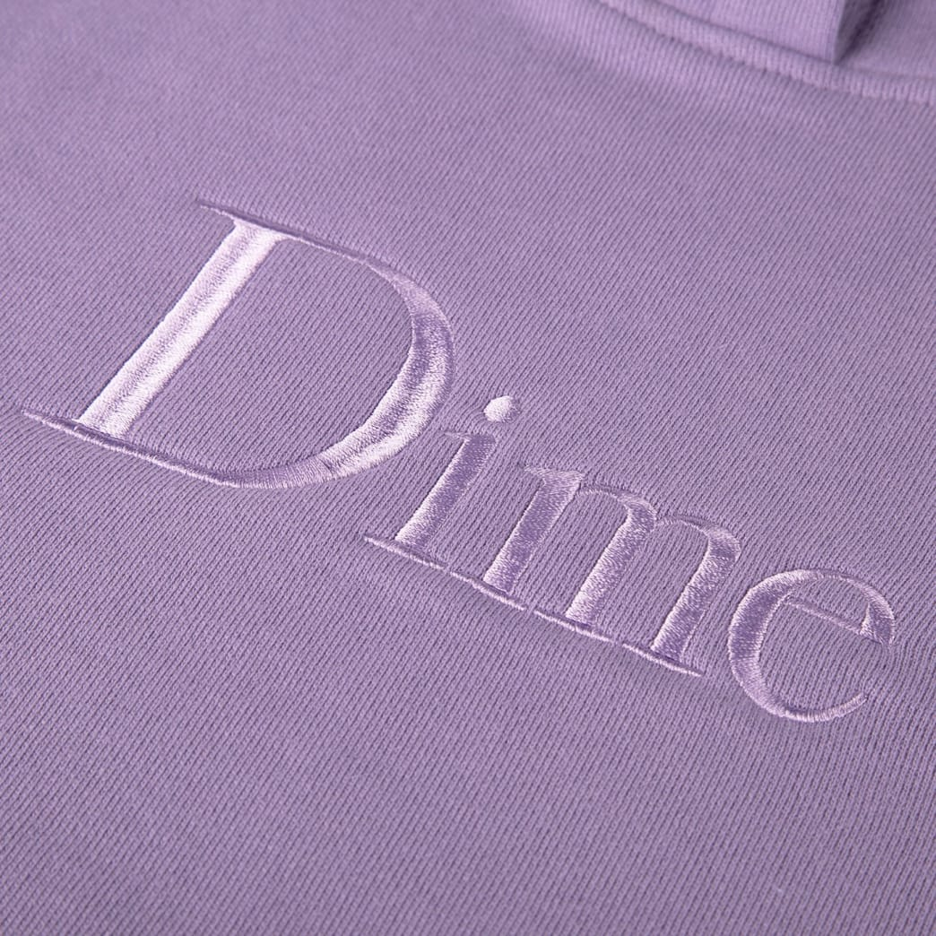 Dime Classic Logo Embroidered Hoodie Lilac | Sweatshirt by Dime MTL 2