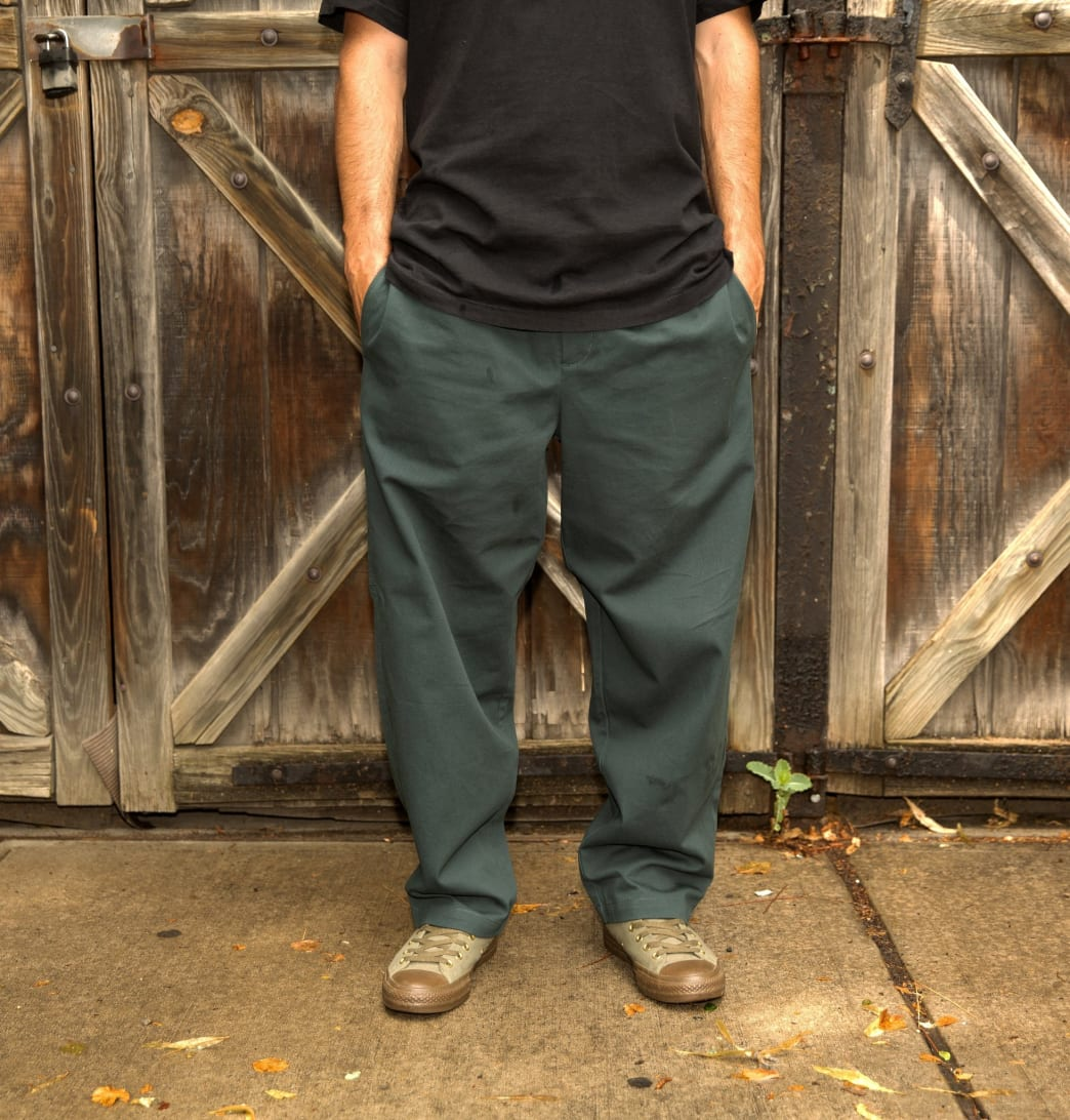 Theories Stamp Lounge Pant Scarab Green | Trousers by Theories of Atlantis 3