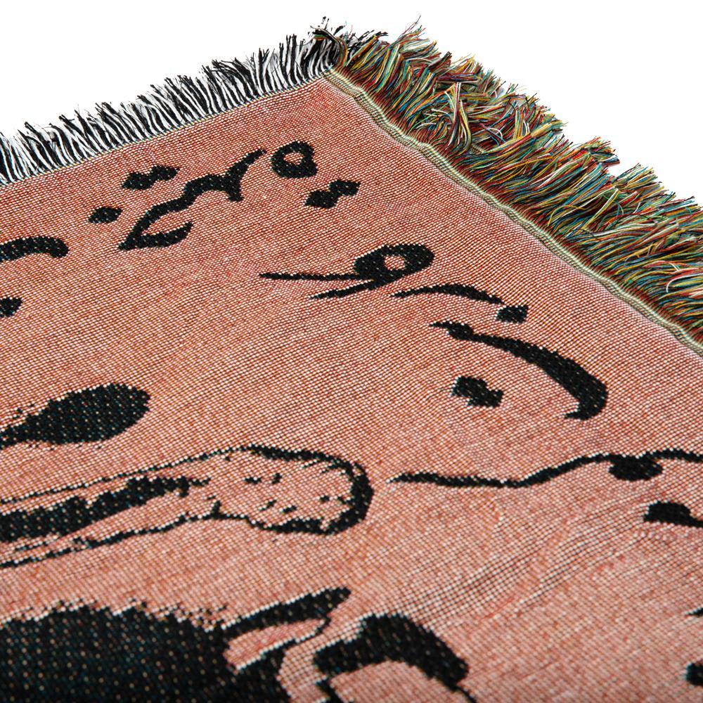 Carpet Company Woven Blanket Black/Brown | Blanket by Carpet Company 2