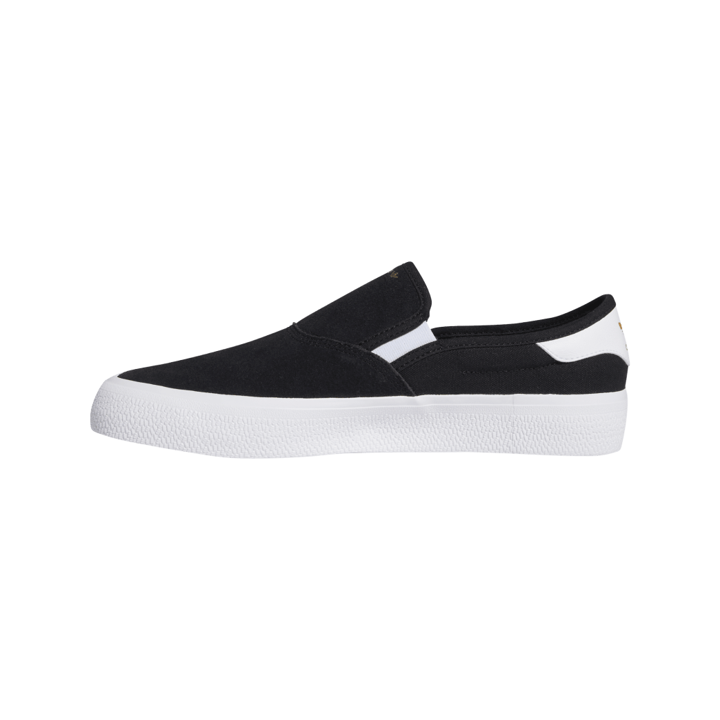 adidas 3MC Slip-On Skate Shoes - Core Black / FTWR White / Gold Met   Shoes by adidas Skateboarding 2