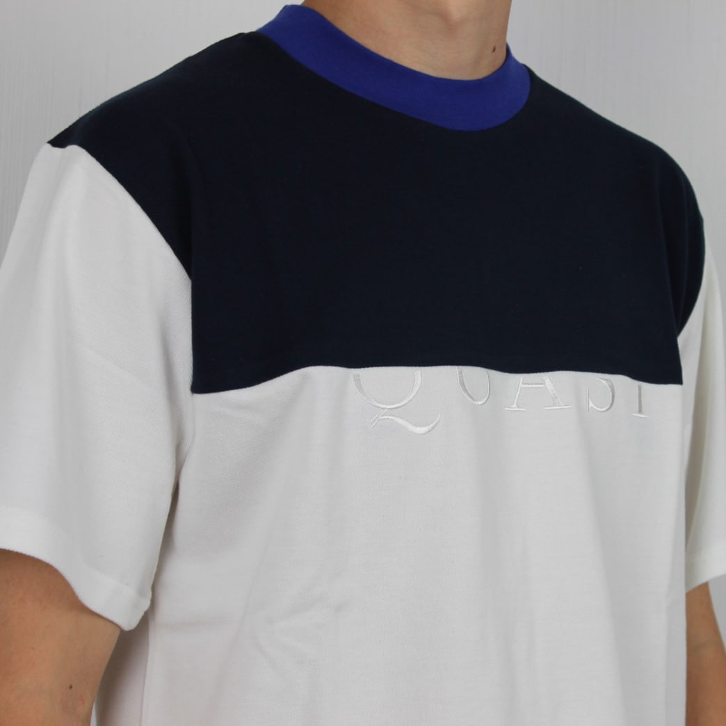 Quasi Pique Mid Weight T-Shirt Royal Blue/Navy/White | T-Shirt by Quasi Skateboards 2