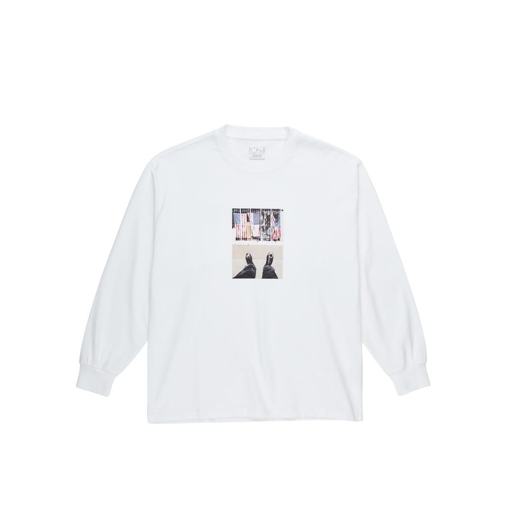 Polar Skate Co Happy Sad Around The World Long Sleeve T-Shirt - White | Longsleeve by Polar Skate Co 1