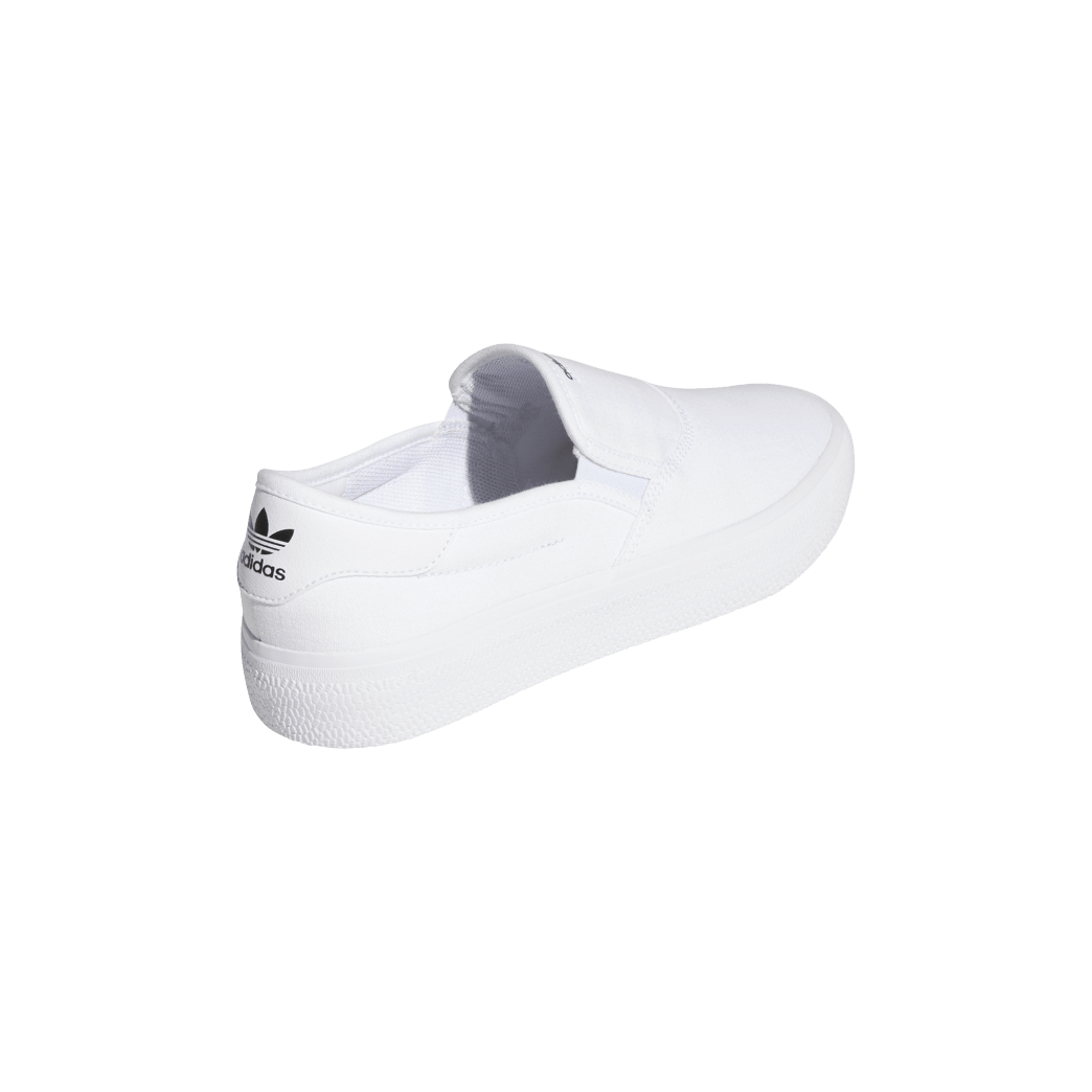 adidas 3MC Slip-On Skate Shoes - Cloud White / Cloud White / Core Black | Shoes by adidas Skateboarding 5
