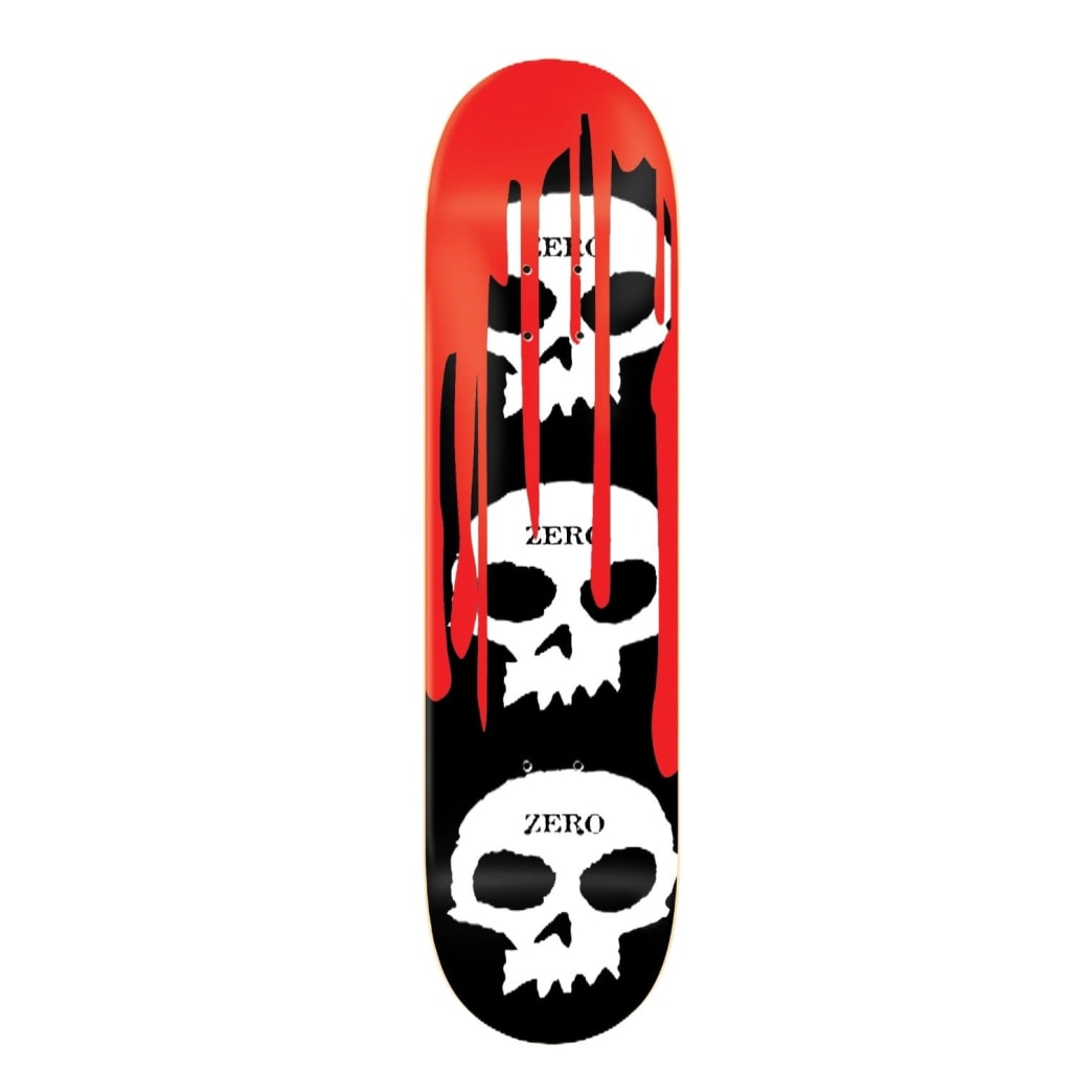 ZERO 3 SKULL BLOOD DECK – BLACK 8.0"