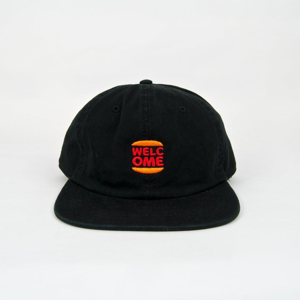 Welcome Skate Store - Burger Cap - Black | Baseball Cap by Welcome Skate Store 2
