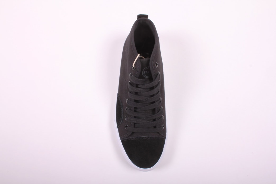 State Harlem Up Town Black/White Canvas Suede   Shoes by State Footwear 2