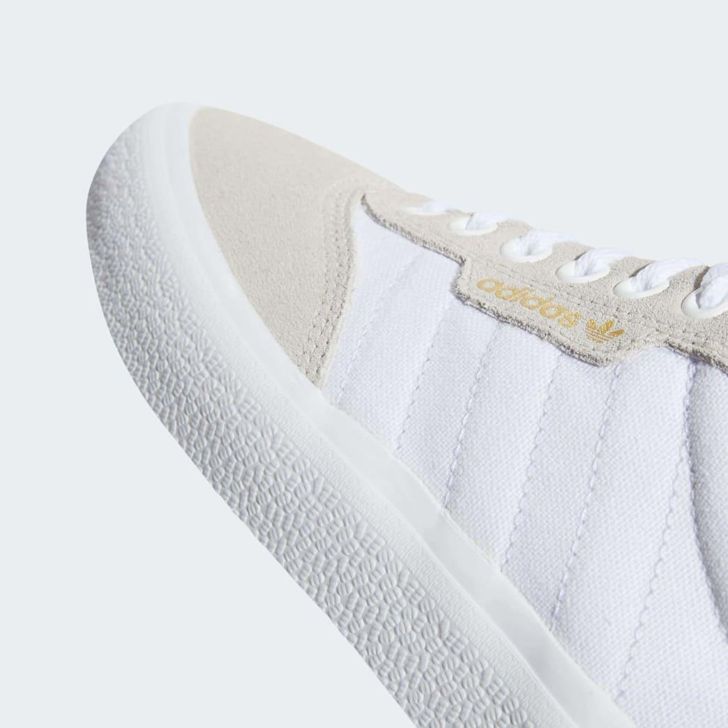 Adidas 3MC Vulc Shoes - FTWR White/Crystal White/Gold Metallic | Shoes by adidas Skateboarding 8