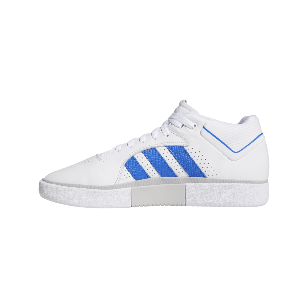 adidas Tyshawn Jones Skate Shoes - Cloud White / Blue / Gold Metallic | Shoes by adidas Skateboarding 4