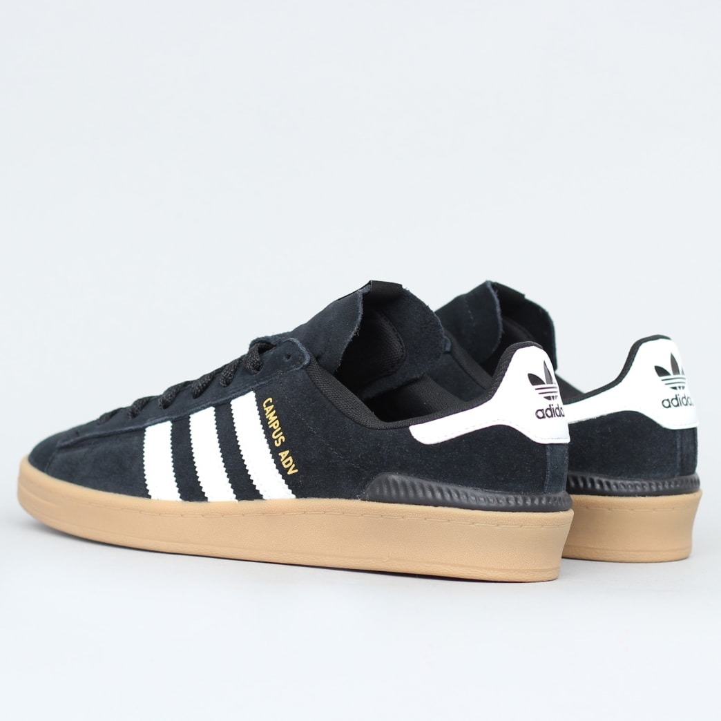 adidas Campus Advance Shoes Core Black / Footwear White / Gum 4 | Shoes by adidas Skateboarding 4
