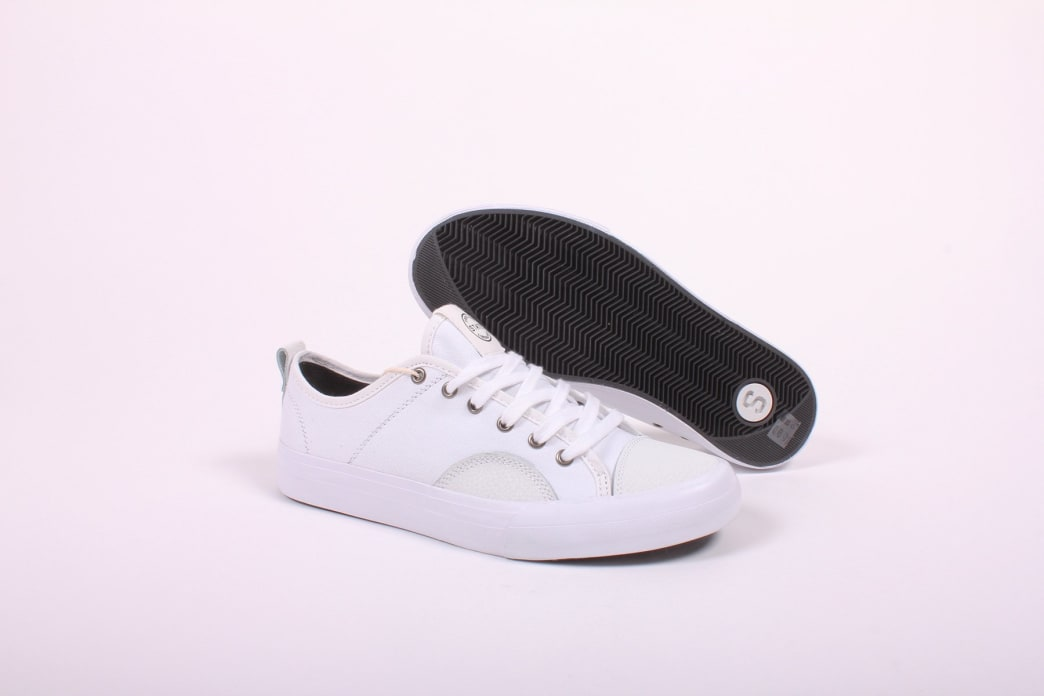 State Harlem White/White Canvas Suede | Shoes by State Footwear 1