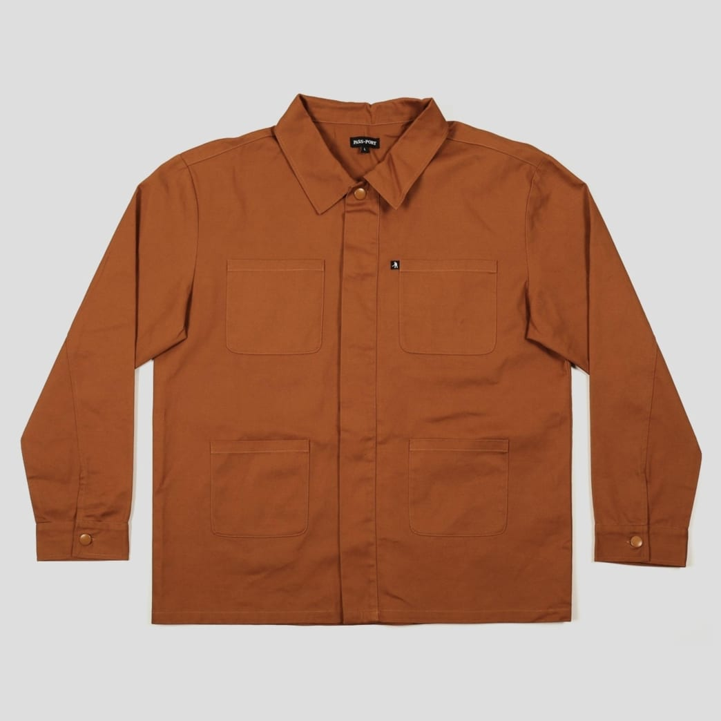 """PASS~PORT-""""WORKERS PAINTER JACKET""""(GOLDEN BROWN) 