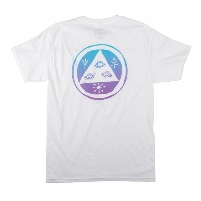 Welcome Skateboards Talisman T-Shirt - White / Blue / Lavender | T-Shirt by Welcome Skateboards 1