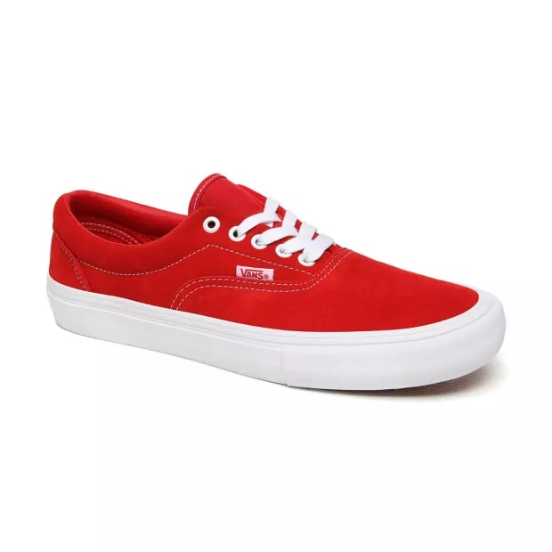 Vans Era Pro Skate Shoes - Red / White | Shoes by Vans 8
