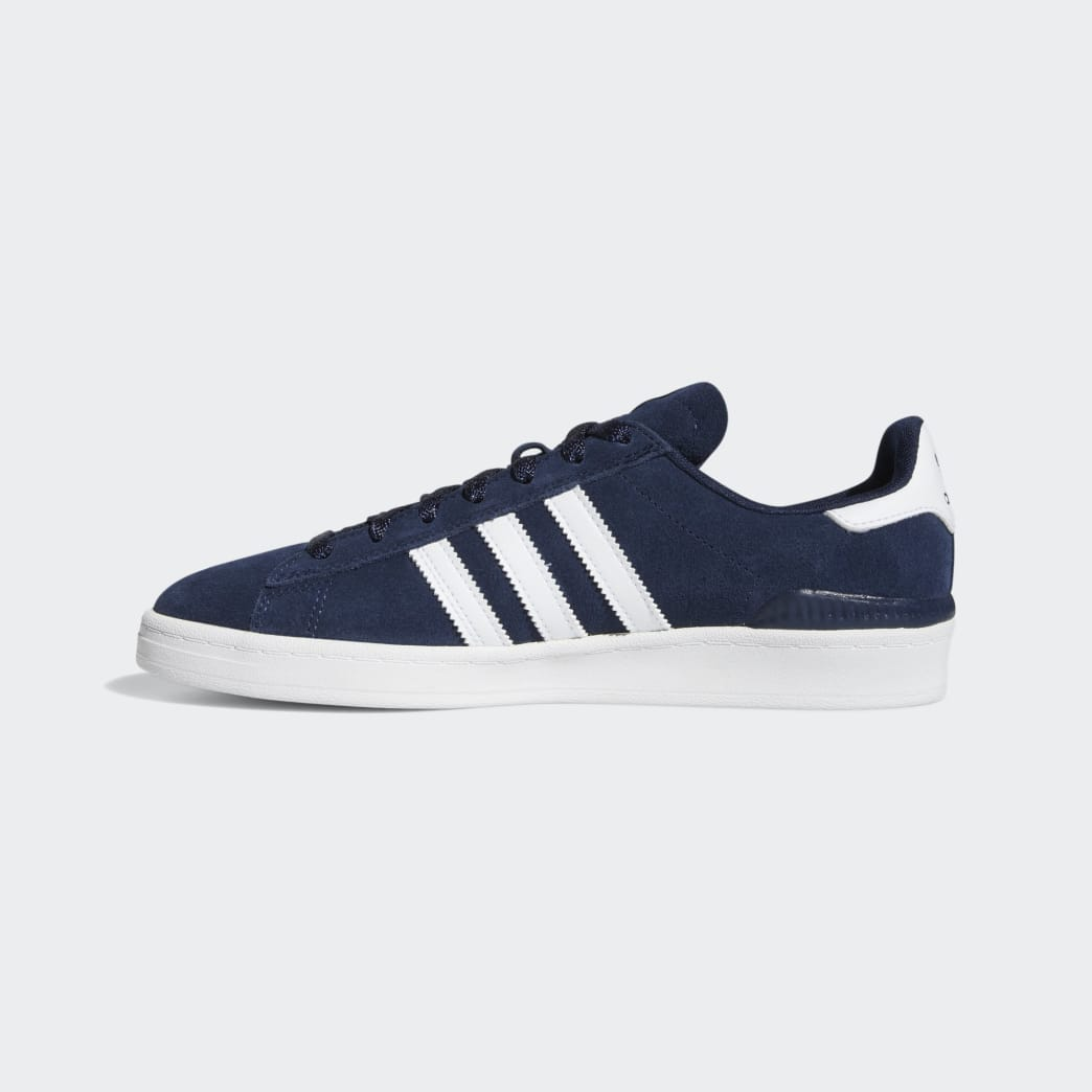 Adidas Campus ADV Shoes - Collegiate Navy/Cloud White/Cloud White | Shoes by adidas Skateboarding 4