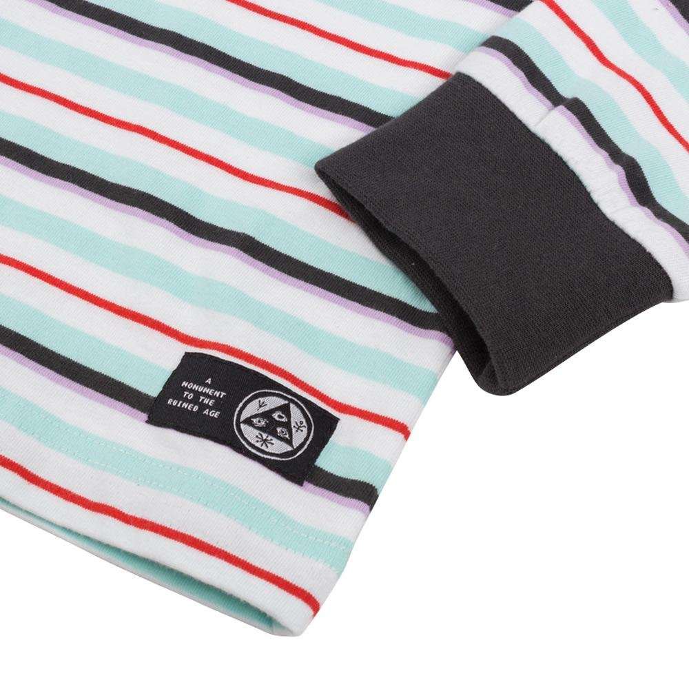 Welcome Surf Stripe Longsleeve T-Shirt - White-Red | Longsleeve by Welcome Skateboards 2