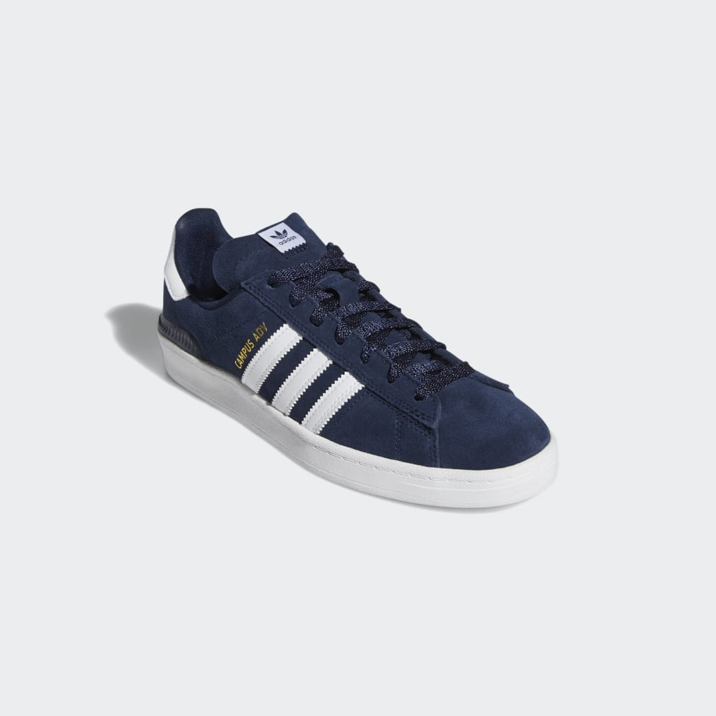 Adidas Campus ADV Shoes - Collegiate Navy/Cloud White/Cloud White | Shoes by adidas Skateboarding 5
