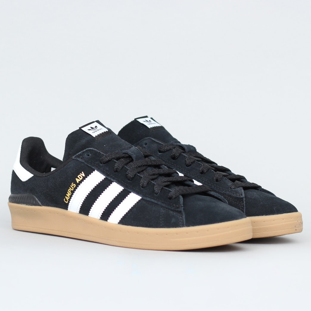 adidas Campus Advance Shoes Core Black / Footwear White / Gum 4 | Shoes by adidas Skateboarding 3