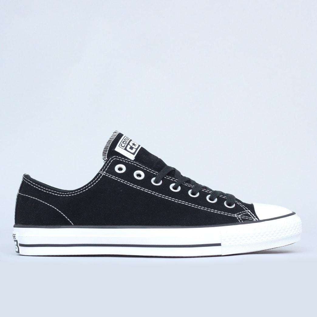 4c98136fa3e016 Shop Converse CTAS Pro OX Shoes Black   White Suede