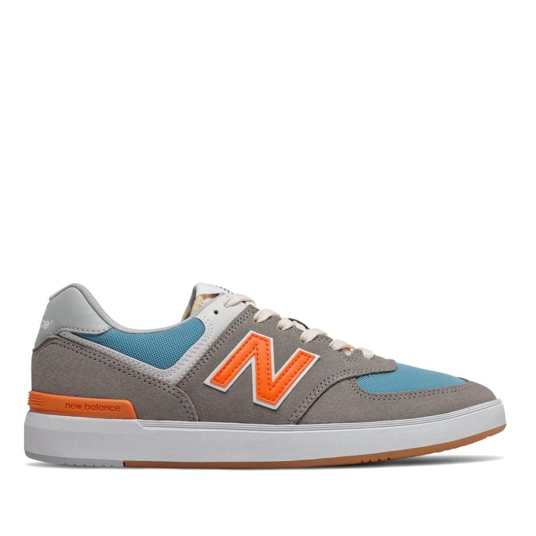 New Balance Numeric All Coast 574 Skate Shoe - Grey / Orange | Shoes by New Balance 1