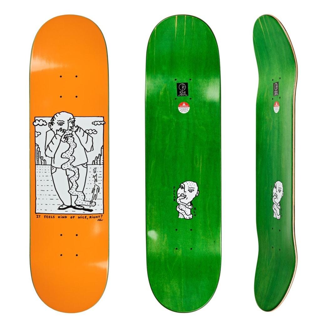 "Polar Skate Co Kind Of Nice Orange Skateboard Deck - 8.75"" | Deck by Polar Skate Co 1"