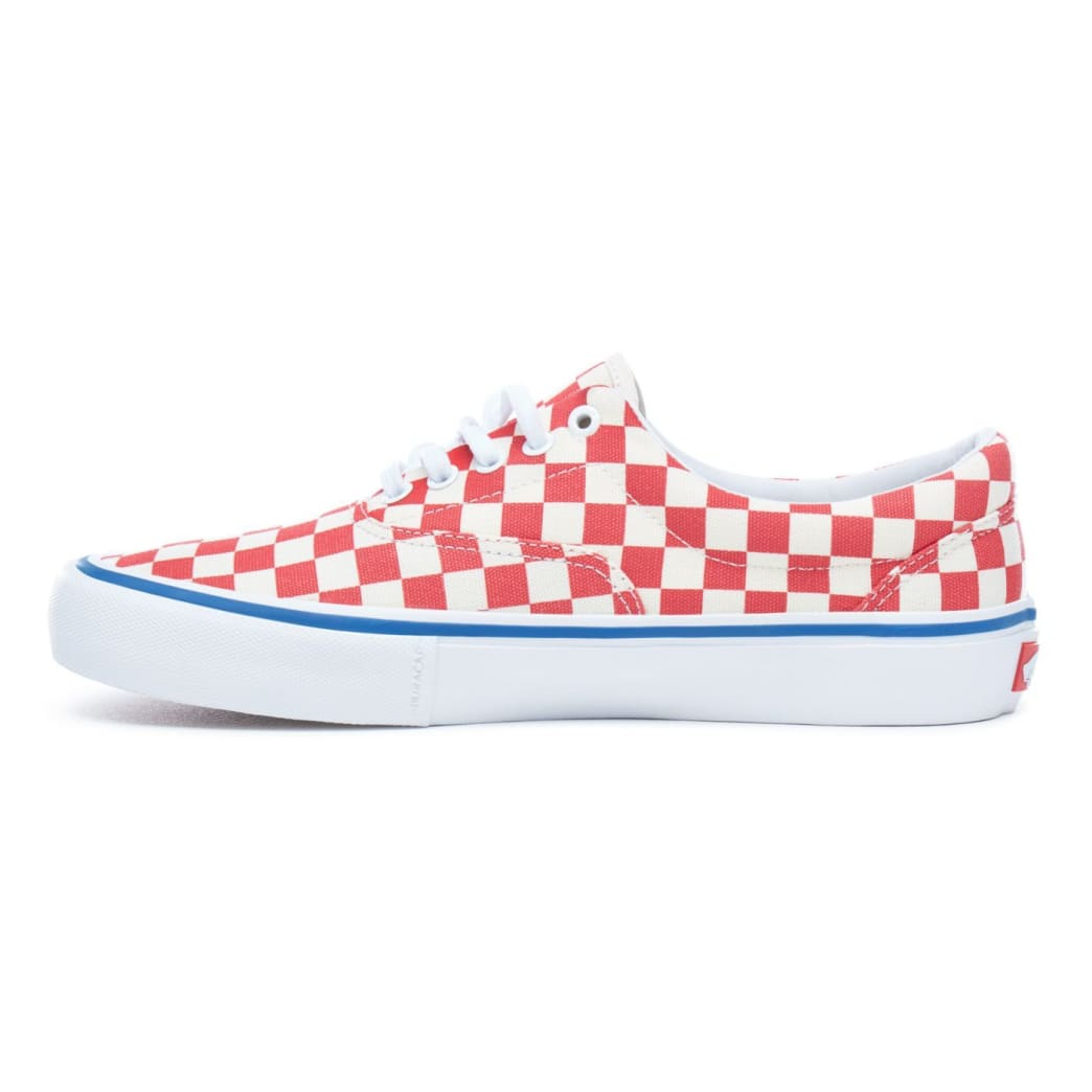 Vans Checkerboard Era Pro Skateboard Shoes - Rococco Red/Classic White | Shoes by Vans 3
