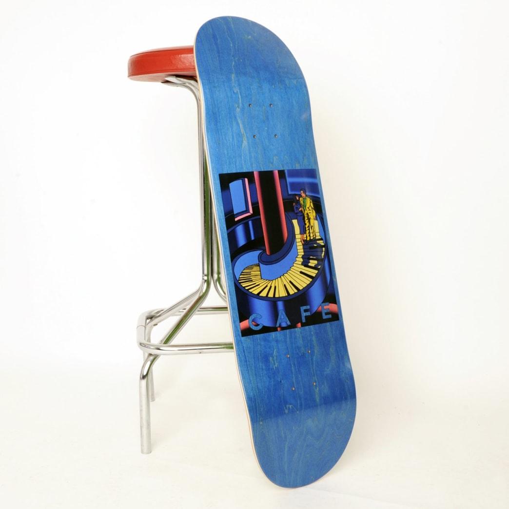 "Skateboard Cafe Piano Staircase Skateboard Deck Blue Woodstain - 8.375""   Deck by Skateboard Cafe 3"