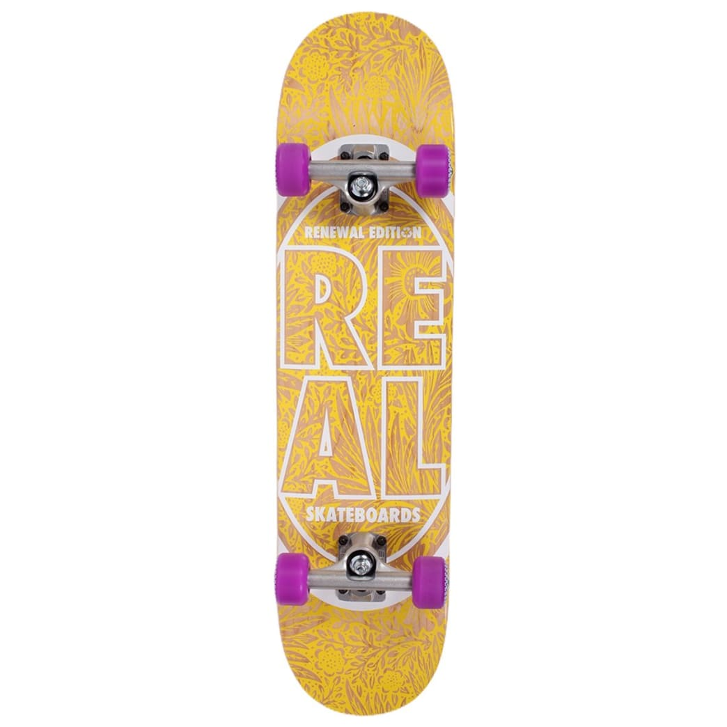 Real Assembled Complete Renewal Pricepoint 7.56 Yellow | Complete Skateboard by Real Skateboards 1