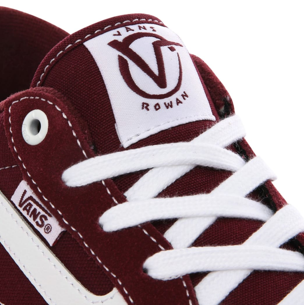 Vans Rowan Pro Skate Shoes - Port / White | Shoes by Vans 2